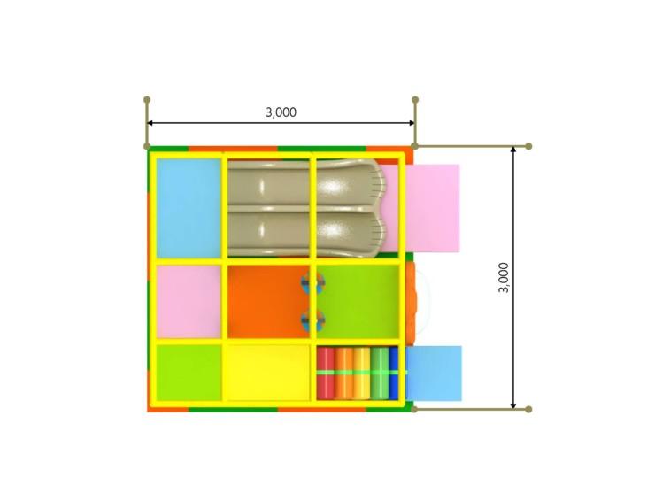 室内複合遊具 パターン1